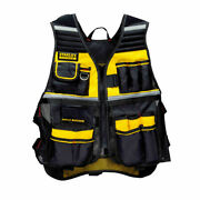 Stanley Fatmax Adjustable Tool Vest W/ Stoage Compartments Fmst530201 New
