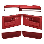 For Gmc C3500 1981-1982 Coverlay 18-601cl-rd Red Interior Combo Kit Power Locks