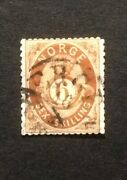 Stamp Norway Norge 1871 1875.sg 44. 6 Skilling. Used.oe206