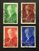 Stamp Norway Norge 1935 Sg235/238.office International Nansen. Fine Used Oe207