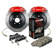 For Volkswagen Gti 15 Stoptech Touring Slotted 1-piece Front Big Brake Kit