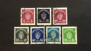 Stamp Norway Norge 1925. Sg0187-0193. Official Rare Full Set.fine Used Oe210