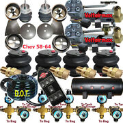 Impala Air Ride 1/2 Valves 7 Switch Air Compressors Tank 58-64 Chevy
