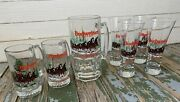 7 Vintage Ltd Edition Christmas 1989 Budweiser Clydesdale Beer Various Glasses
