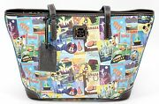 New Disney Dooney And Bourke 2016 Epcot Food And Wine Festival Shopper Tote Purse 1