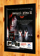 Fatal Frame Ii 2 Crimson Butterfly Small Poster Ad Page Framed Ps2 Xbox Ubisoft