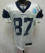 Dallas Cowboys Nike Nfl Practice Worn Jersey Berlin Wi W 87 Andre Smith White