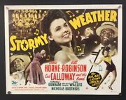 Stormy Weather Original Half Sheet Movie Poster Lena Horne Hollywood Posters