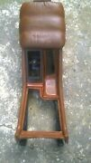Maserati Biturbo Early Model, Complete Center Console In Brown Leather
