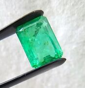 Natural Old Colombian Emerald Cut Octagon Rare 3.71 Carats Gemstone For Ring