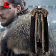 Dfym Game Of Thrones Cosplay Season 8 Jon Snow Costume Leather Outfit Halloween