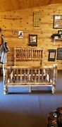 Rustic Log Bed - Small Spindles 329 Ships Free Twist Of Nature Brand