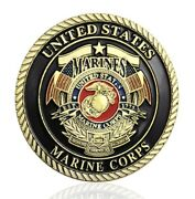 U.s. Marine Corps Usmc   Release The Dogs Of War   Military Challenge Coin