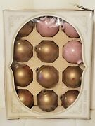Lot Of 12 Vintage Shiny Brite Glass Christmas Ball Ornaments 3 Gold Pink...