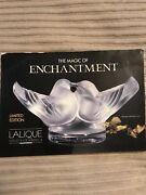 Lalique Frosted Crystal Kissing Lovebirds Society Of America 1993 Signed France