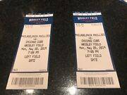 5/20/19 May 20, 2019 Philadelphia Phillies Vs Chicago Cubs Tickets Stubs