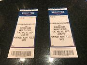 5/21/19 May 21, 2019 Philadelphia Phillies Vs Chicago Cubs Tickets Stubs