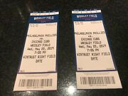 5/22/19 May 22, 2019 Philadelphia Phillies Vs Chicago Cubs Tickets Stubs