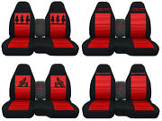 Fits Ford Ranger/truck Car Seat Covers 60-40 Console Not Included Blk-red...