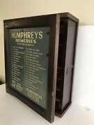 Vintage Original Humphreys 2-sided Remedies Cabinet 77 With Numbered.drawers