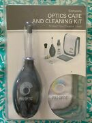 New Pro Optic Complete Camera Lens And Glasses Cleaning Kit, Spray Air Blower Wipe