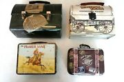 4 Lunchboxes-vintage Dome Reproduction Girl Scouts Prairie Man And Western Trail