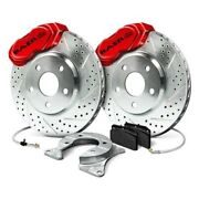For Ford Mustang 65-69 Baer 4261418r Ss4 Drilled And Slotted Front Brake System