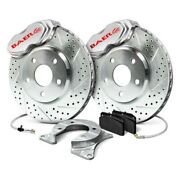 For Ford Mustang 65-69 Baer 4261418s Ss4 Drilled And Slotted Front Brake System