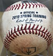 Joey Bart Single From 2019 Cactus League Mlb Holoand039d Game-used Baseball Giants