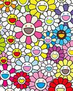 Takashi Murakami A Little Flower Painting Pinkpurple And Many Other Ed.300
