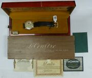 Vintage Jaeger Lecoultre Futurematic 10k Gold Filled Watch W/ Orig Box And Paper
