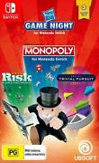 Hasbro Game Night 3 Board Games Monopoly Trivial Pursuit Risk Nintendo Switch