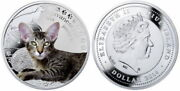 Niue 2014 1 Javanese Cat Manand039s Best Friends- Cats Proof Silver Coin