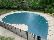 Meyco Lite Pool Safety Cover Green 29and039 X 39and039