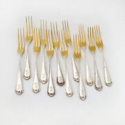 Strawberry Forks 12 Number 4 Pattern Sterling Silver Wallace 1896