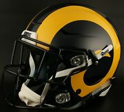 Los Angeles Rams Nfl Authentic Gameday Football Helmet W/ Sf-2eg-sw Facemask
