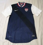 Authentic Nike Usa Stars Stripes Away Replica Soccer Jersey Navy White Red Small