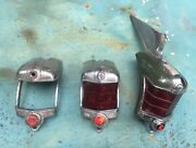 3 1938 1939 Cadillac Series 607590v 16 Special Tail Light Outer Housings Oem