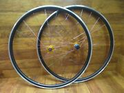 Tune Mig / Mag Gold 11 Speed Hubs Tie Dyed Ti Bladed 700c Clincher Wheel Set