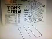 Athearn Ho 42' Tank Car Parts - Part 15508 Two 2 Pairs Of Metal Hand Railings