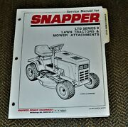 1990 Snapper Tractor Manual 07218 Ltd Series 0 Lawn Tractor Mower Attachments