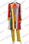 Doctor Who Cosplay Series 6th Sixth Dr Colorful Lattice Stripe Costume Full Set