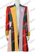 Doctor Who Cosplay Series 6th Sixth Dr Costume Colorful Lattice Stripe Coat