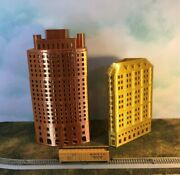 Gold Metallic Office Skyscraper Building N Scale 1160 Add Floors To Customize