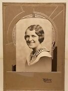 Antique Photograph Young Lady Alexandria Minnesota Studio Idand039s Halverson Kraft