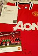 3 X Manchester United Signed Midfielders Football Shirts Collection