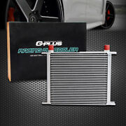 30 Row An-10 An Universal Aluminum Engine Transmission Racing Oil Cooler Silver