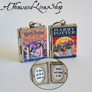 Harry Potter Book Locket Quote Inside Charm Keychain Pendant Necklace