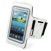 White Armband Sports Gym Workout Cover Case Arm Strap T7d For Smartphones
