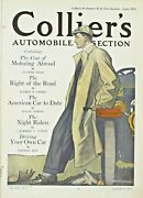 Antique Collier's Original National Weekly Magazine Automobile Section 1910